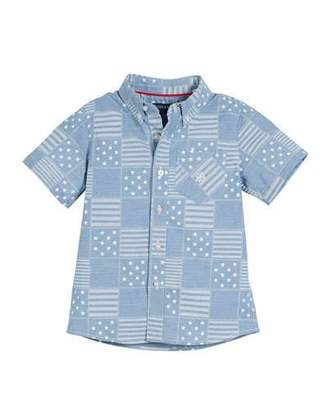 Andy & Evan All American Patchwork Shirt, Size 2-7