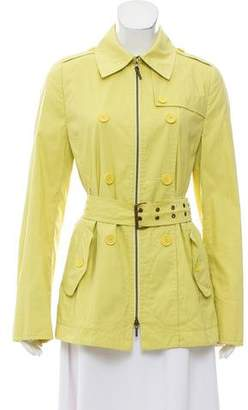 Akris Punto Point-Collar Trench Jacket