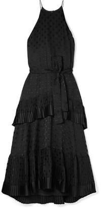 Zimmermann Picnic Tiered Polka-dot Devoré-chiffon Dress