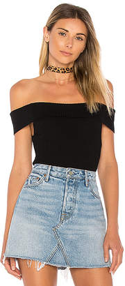 by the way. Ami Off Shoulder Knit Bodysuit in Black $52 thestylecure.com