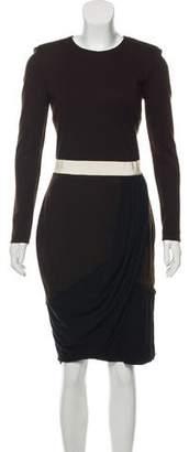 Giambattista Valli Virgin Wool Midi Dress