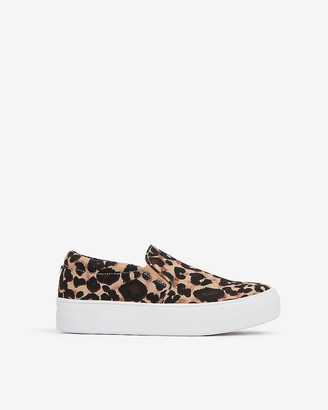 Express Steve Madden Leopard Gills Slip-On Sneakers