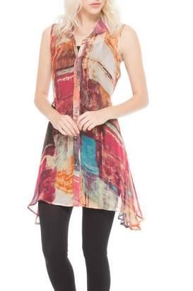 Adore Colorful Chiffon Tunic