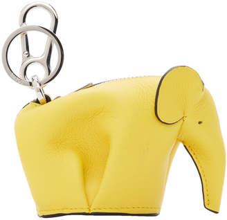 Loewe Yellow Elephant Charm Keychain