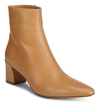 Vince Women's Lanica Leather Block Heel Booties