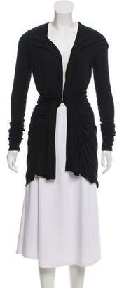 Rick Owens Belted High-Low Cardigan