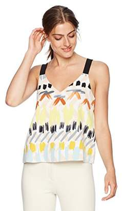 Cooper & Ella Women's Colorful V-Neck Sanne Tank