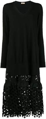 No.21 embroidered sweater dress