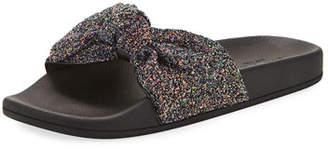Kate Spade Shellie Glitter Slide Pool Sandal, Navy