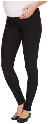 Plush Maternity Fleece-Lined Cotton Under-Belly Leggings Women's Clothing