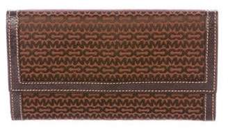 Mark Cross Leather-Trimmed Flap Wallet