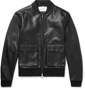 Mr P. Leather Bomber Jacket