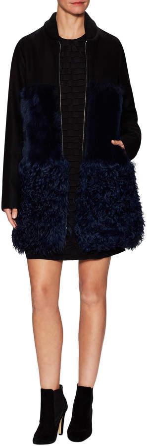 MSGM Women's Knit Ribbed Coat