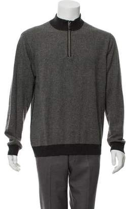 Barneys New York Barney's New York Cashmere Zip-Up Sweater