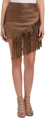Liberty Garden Fringe Mini Skirt