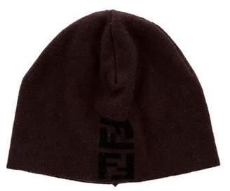 Fendi Logo Knit Beanie