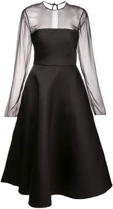 Jason Wu Collection mesh panel flared dress