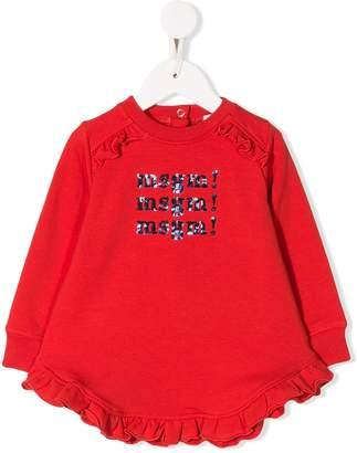 MSGM Kids ruffle trim jersey dress