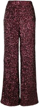 Victoria Beckham Victoria all over sequin wide leg trousers