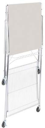 Honey-Can-Do Urban Stainless Steel Folding Work Table Cart with Wheels