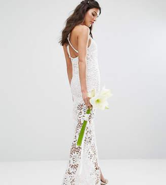 Body Frock Bodyfrock Bridal Crochet Maxi Dress with Cross Back