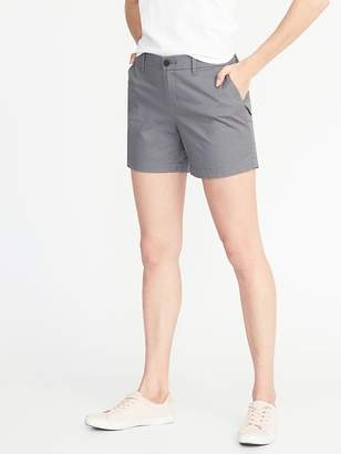 "Old Navy Mid-Rise Everyday Twill Shorts for Women (5"")"