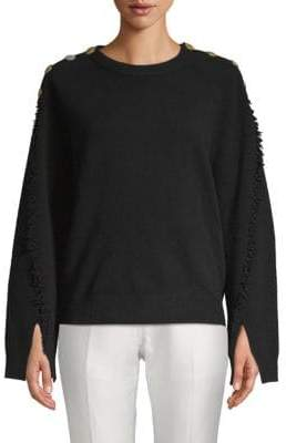 Zadig & Voltaire Justine Fringed Wool & Cashmere Sweater