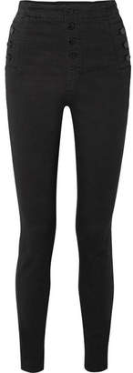 J Brand - Natasha Sky High-rise Skinny Jeans - Black