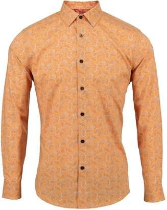 Lords of Harlech - Nigel Shirt In Orange Paisley