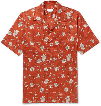 Cmmn Swdn Duncan Camp-Collar Printed Tencel Shirt