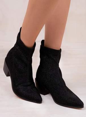 Therapy Black Stretch Sparkle Blaze Boots