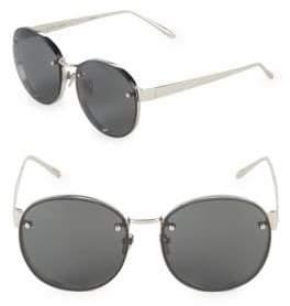 Linda Farrow Luxe 56MM Round Sunglasses