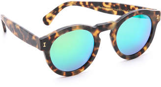 Illesteva Leonard Matte Mirrored Sunglasses