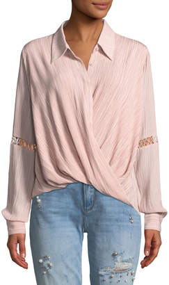The Jetset Diaries Primrose Button-Down Surplice Top