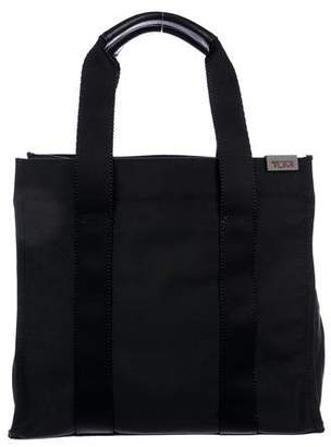 Tumi Leather-Trimmed Canvas Tote