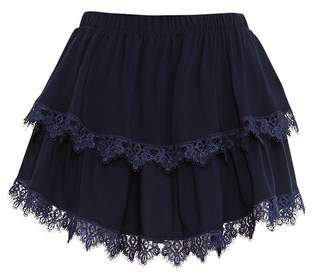 Paolita Navy Blue Short Skirt