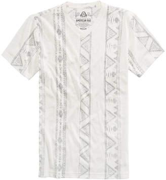 American Rag Men's V-Neck Geometric Striped T-Shirt, Created for Macy's