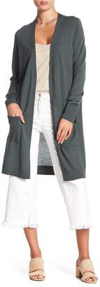 Halogen Wool Blend Open Front Cardigan (Regular & Petite)
