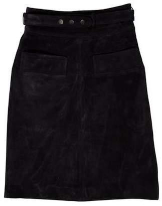 Belstaff Suede Knee-Length Skirt