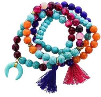 Panacea Set of 4 Beaded Stretch Bracelets