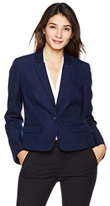 Long Sleeve One Button Light Weight Shoulder Pad Blazer