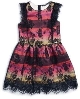 Marciano Striped Lace Party Dress