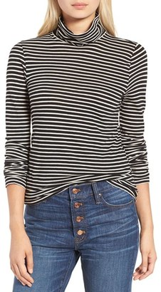 J.Crew Stripe Tissue Turtleneck Tee $39.50 thestylecure.com