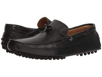 Matteo Massimo Woven Stamped Leather Lace Driver