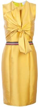 Sachin + Babi front bow fitted dress