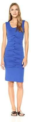 Nicole Miller Women's Jersey Tidal Pleat Dress
