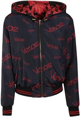 Versace Patterned Reversible Hoodie