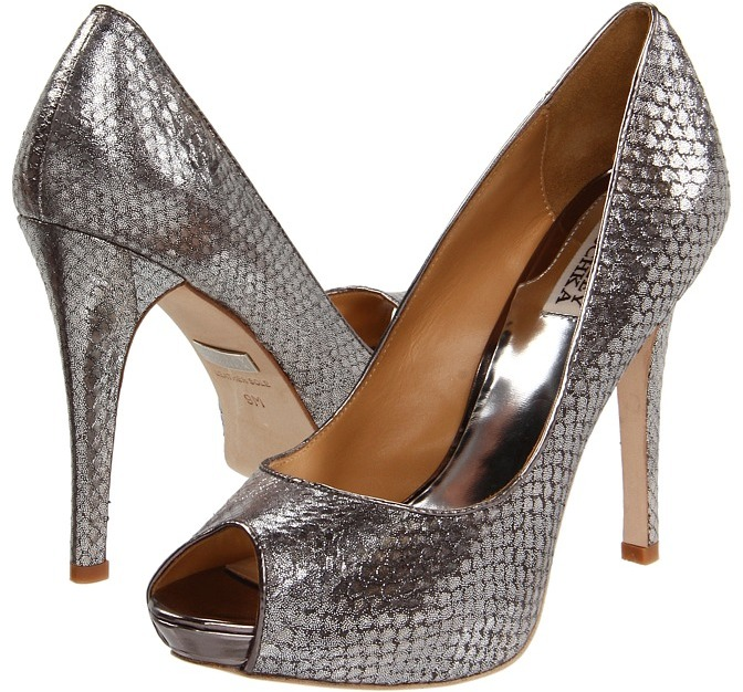 Badgley Mischka - Willoe (Pewter Snake) - Footwear