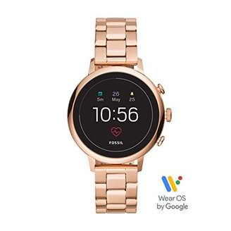 Fossil Women's Gen 4 Venture HR Heart Rate Watch with Stainless Steel Touchscreen Smartwatch Strap
