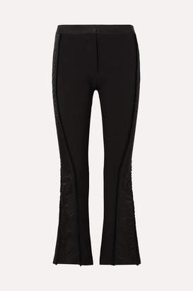 Thierry Mugler Satin-trimmed Twill Flared Pants - Black